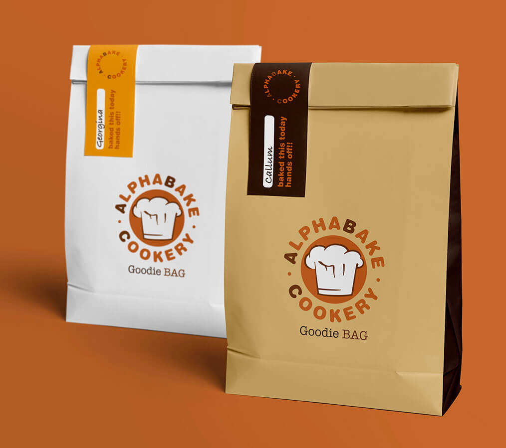 Alphabake branded goodie bags