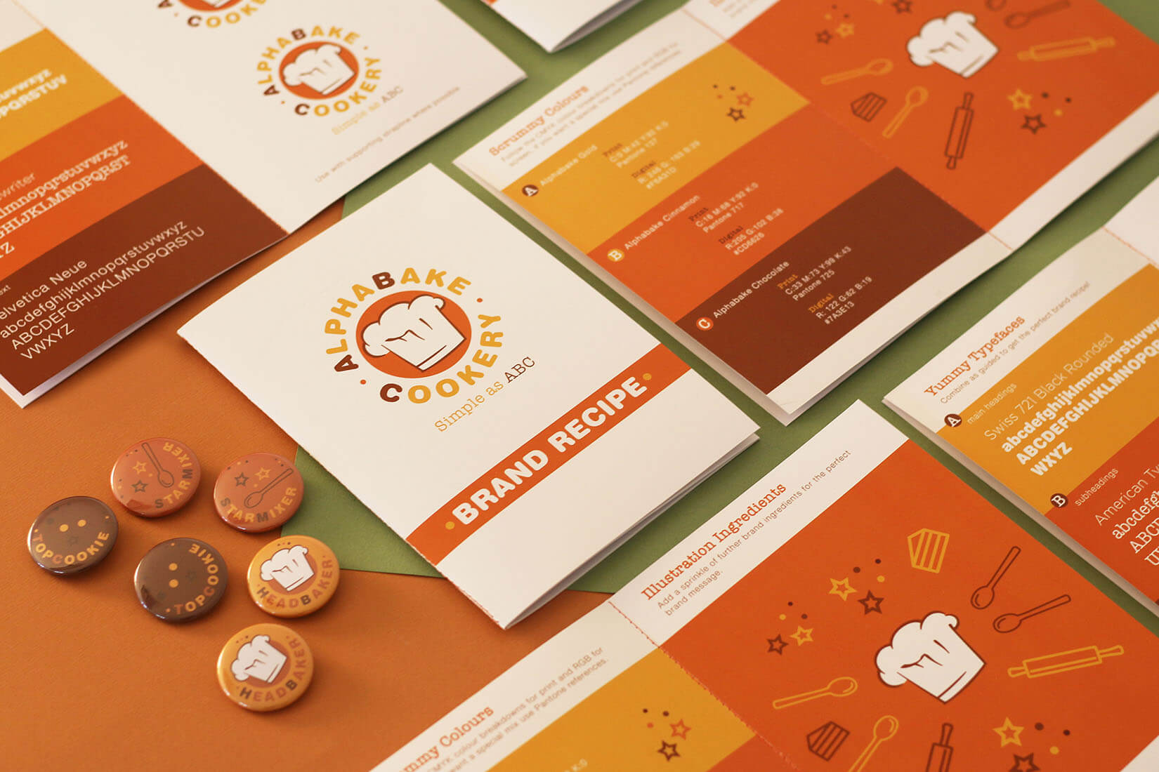 Alphabake visual identity elements